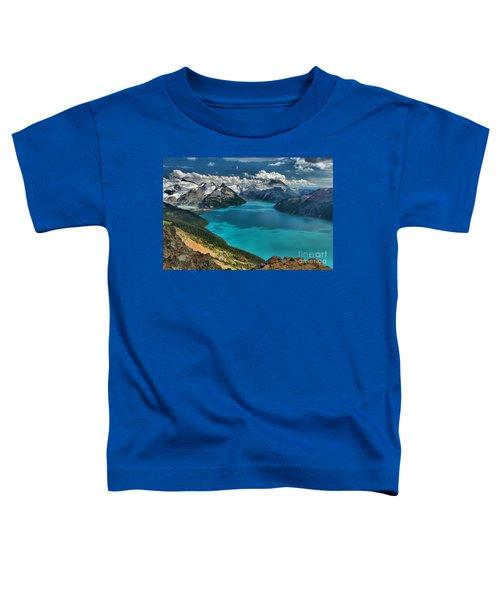 Garibaldi Lake Blues Greens And Mountains Toddler T-Shirt