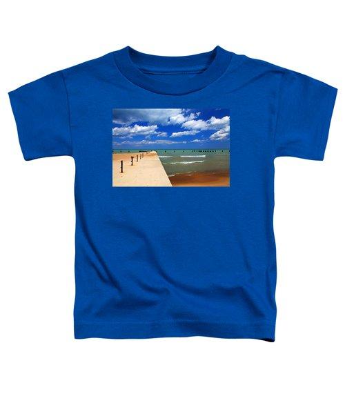 Great Lake Horizon Clouds Toddler T-Shirt