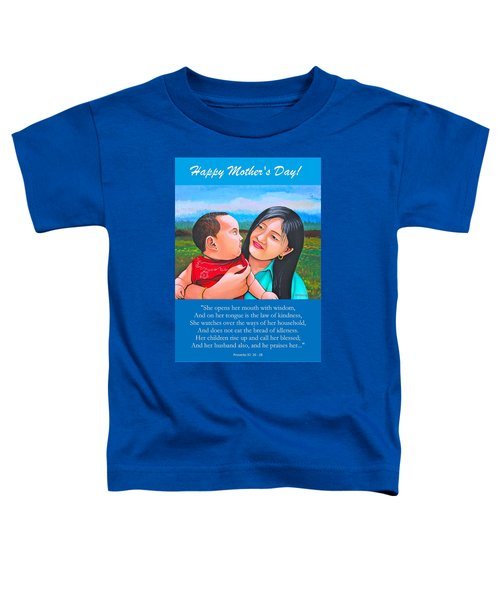 Happy Mom And Babe Toddler T-Shirt