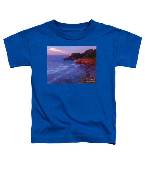 Heceta Head Lighthouse At Sunset Oregon Coast Toddler T-Shirt