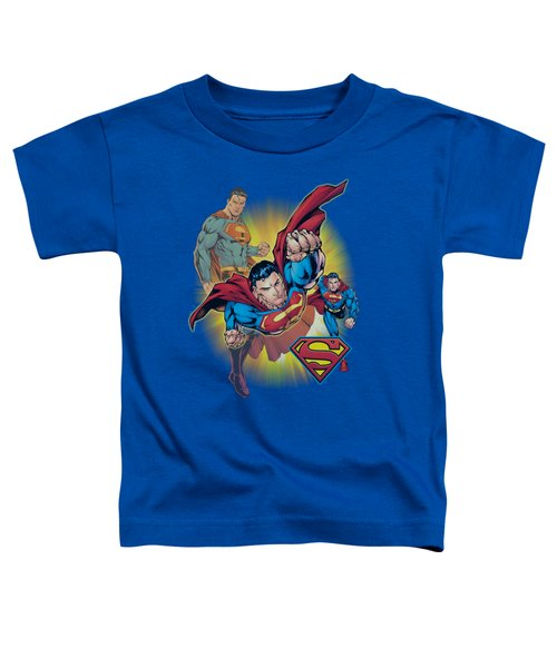 Jla - Superman Collage Toddler T-Shirt