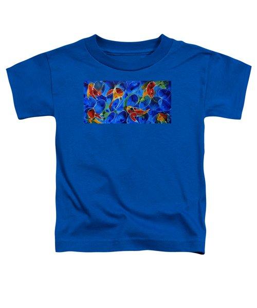 Koi Pond 2 - Liquid Fish Love Art Toddler T-Shirt
