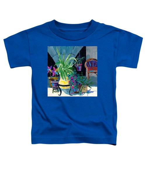 Library Courtyard-rhodes Old Town Toddler T-Shirt