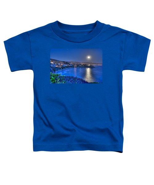 Moon Over Crescent Bay Beach Toddler T-Shirt