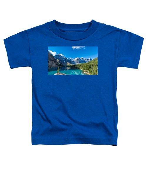 Moraine Lake At Banff National Park Toddler T-Shirt
