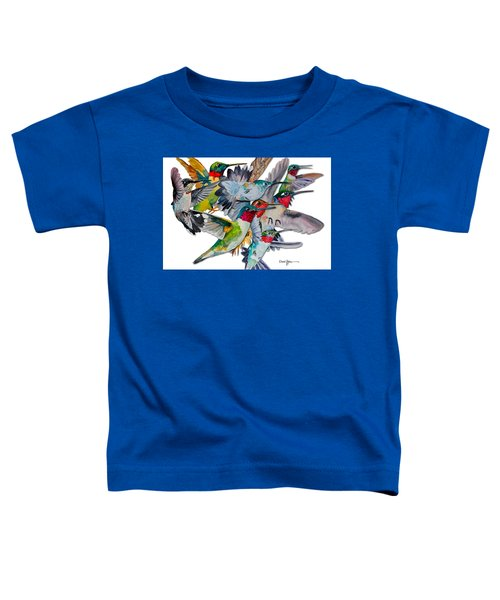 Da053 Multi-hummers By Daniel Adams Toddler T-Shirt