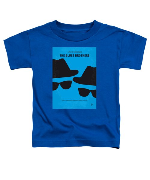 No012 My Blues Brother Minimal Movie Poster Toddler T-Shirt by Chungkong Art