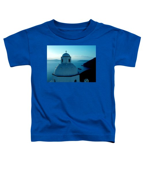 Toddler T-Shirt featuring the photograph Peacefull Santorini Greek Island  by Colette V Hera  Guggenheim