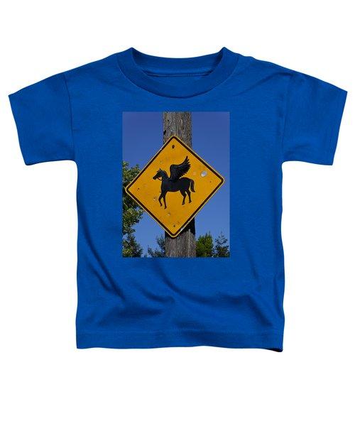 Pegasus Road Sign Toddler T-Shirt