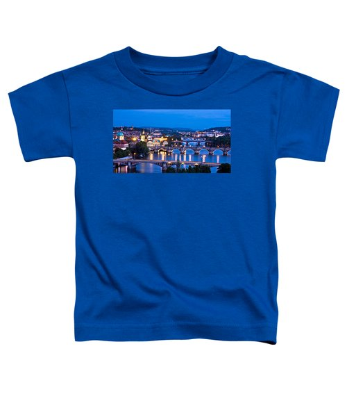 Prague Cityscape At Night Toddler T-Shirt
