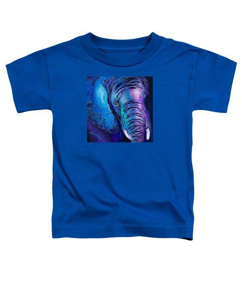 Purple Elephant Toddler T-Shirt