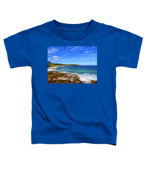 Rocky Shore Near Poipu Toddler T-Shirt