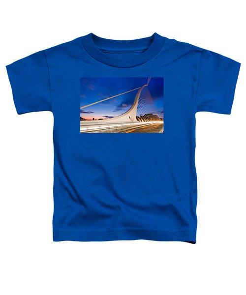Samuel Beckett Bridge At Night / Dublin Toddler T-Shirt