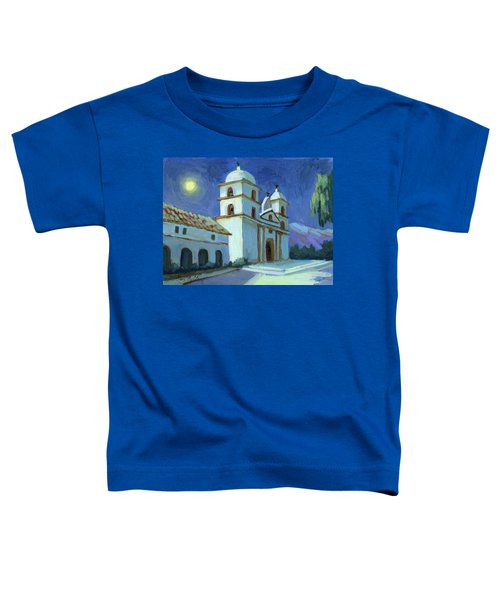Santa Barbara Mission Moonlight Toddler T-Shirt
