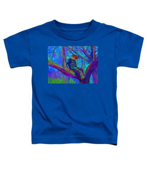 Small Boy In Large Tree Toddler T-Shirt
