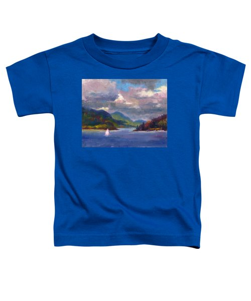 Smooth Sailing Sailboat On Alaska Inside Passage Toddler T-Shirt