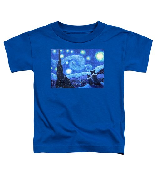 Starry Night Border Collies Toddler T-Shirt