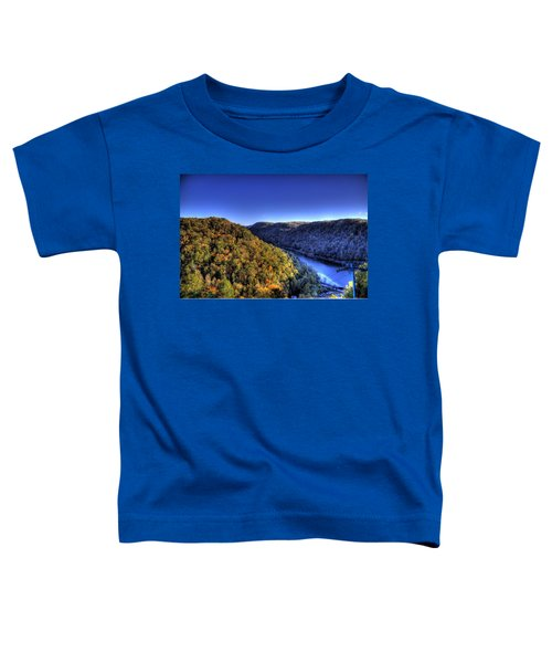 Toddler T-Shirt featuring the photograph Sun Setting On Fall Hills by Jonny D