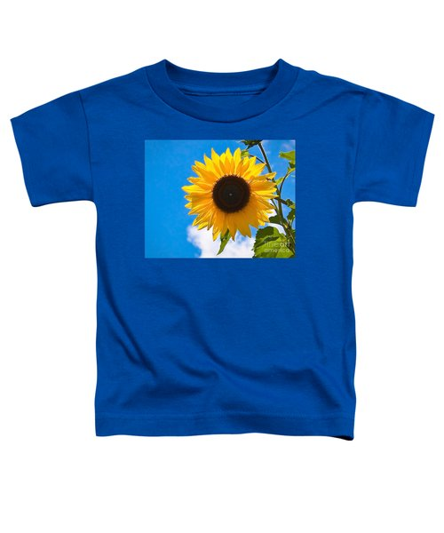 Sunflower And Bee At Work Toddler T-Shirt
