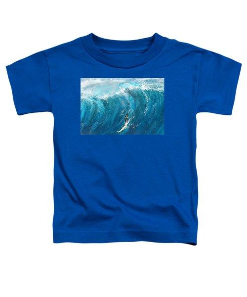 Surf's Up- Surfing Art Toddler T-Shirt