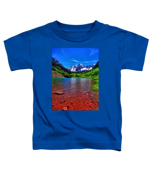 The Colors Of Maroon Bells In Summer Toddler T-Shirt