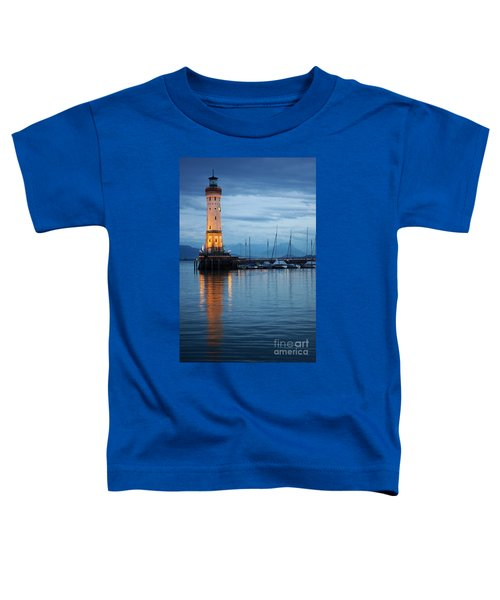 The Lighthouse Of Lindau By Night Toddler T-Shirt