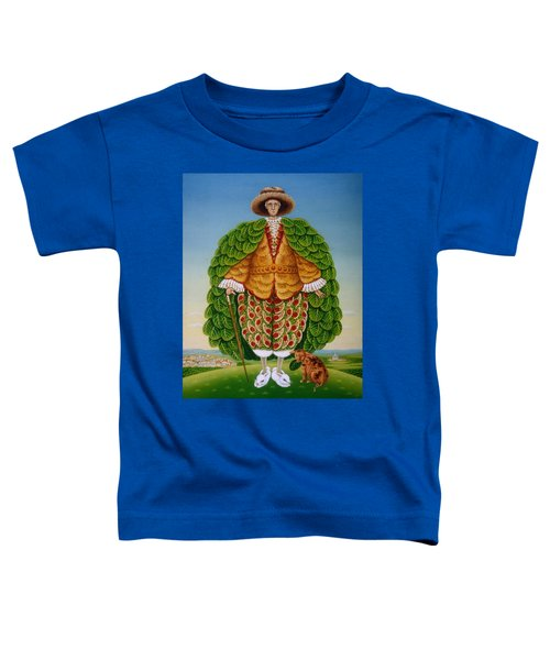 The New Vestments Ivor Cutler As Character In Edward Lear Poem, 1994 Oils And Tempera On Panel Toddler T-Shirt by Frances Broomfield
