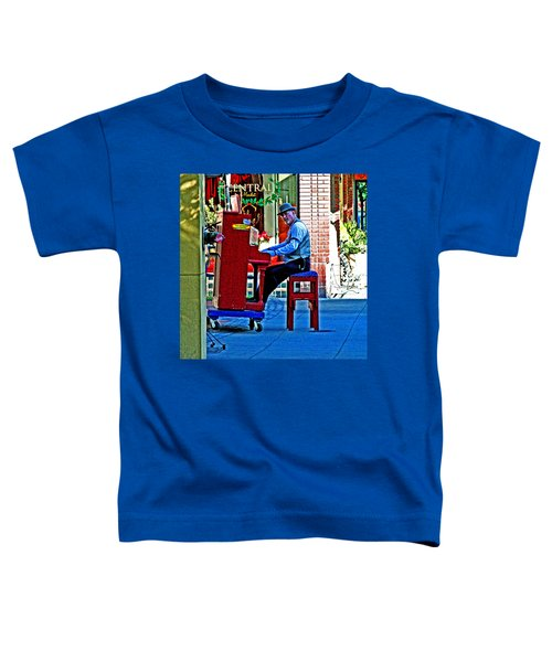 Traveling Piano Player Toddler T-Shirt