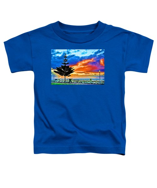 Tree And Sunset Toddler T-Shirt