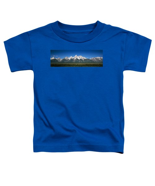 Trees In A Forest With Mountains Toddler T-Shirt
