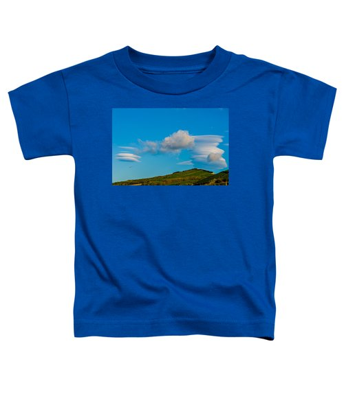 White Clouds Form Tornado Toddler T-Shirt