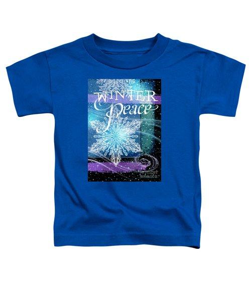 Winter Peace Greeting Toddler T-Shirt
