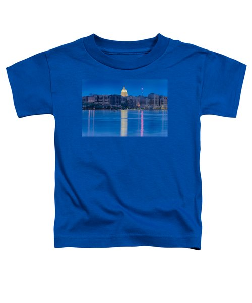 Toddler T-Shirt featuring the photograph Wisconsin Capitol Reflection by Sebastian Musial