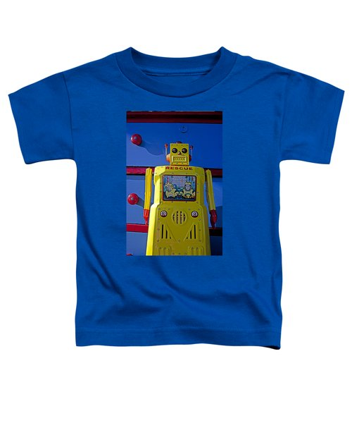 Yellow Robot In Front Of Drawers Toddler T-Shirt