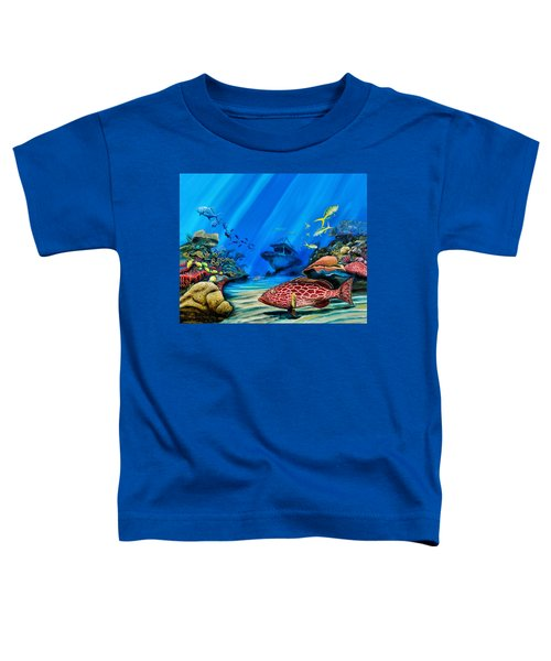 Yellowfin Grouper Wreck Toddler T-Shirt