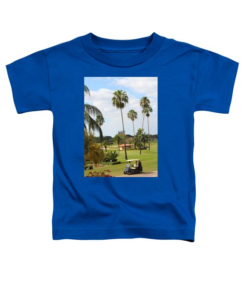 Golf Cart In Golf Course Toddler T-Shirt