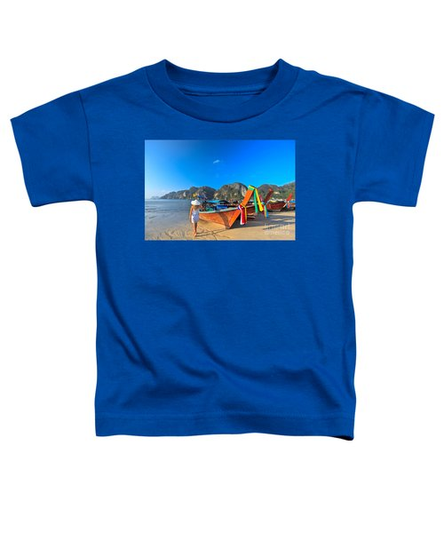 Boats At Phi Phi Island Toddler T-Shirt
