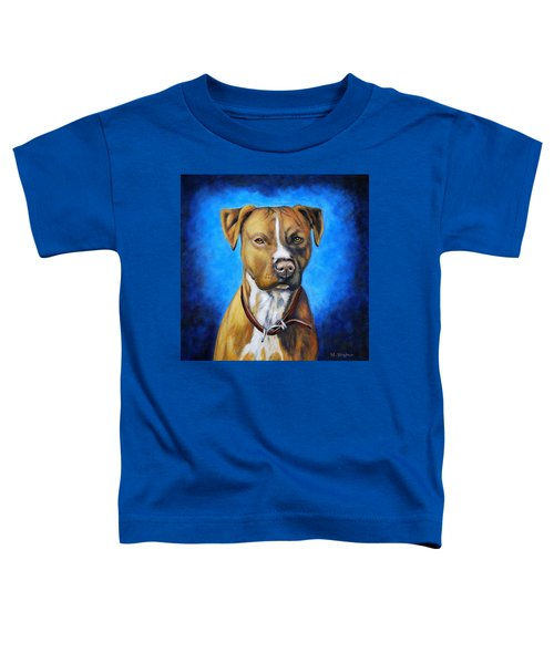 American Staffordshire Terrier Dog Painting Toddler T-Shirt