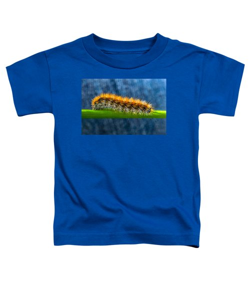 Butterfly Caterpillar Larva On The Stem Toddler T-Shirt