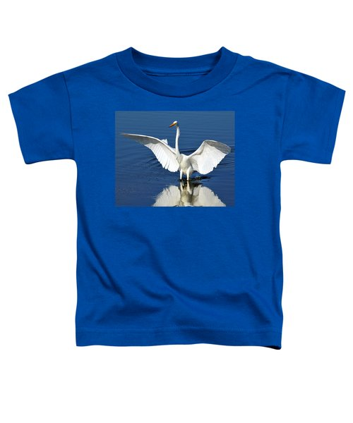Great White Egret Spreading Its Wings Toddler T-Shirt