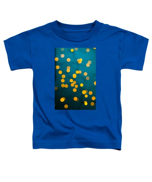 Green Background With Gold Dots  Toddler T-Shirt