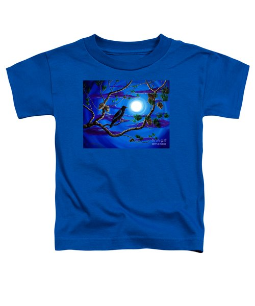 Raven In Pine Tree Branches Toddler T-Shirt