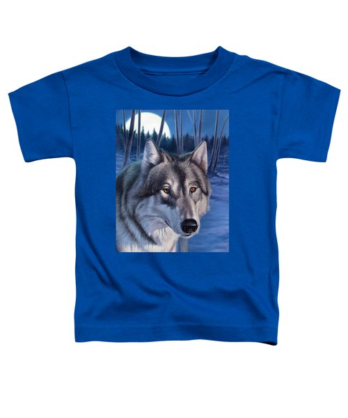 Wolf In Moonlight Toddler T-Shirt