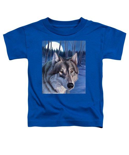 Wolf In Moonlight Toddler T-Shirt