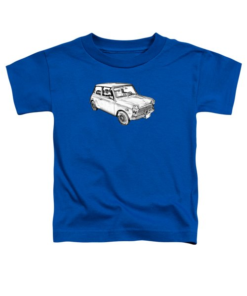 Mini Cooper Illustration Toddler T-Shirt by Keith Webber Jr