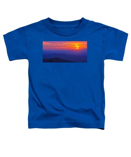 Blue Ridge Parkway Sunset, Va Toddler T-Shirt