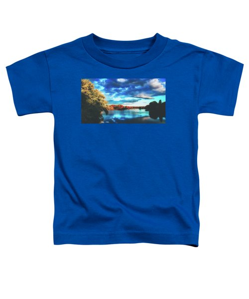 Cloudy Skies Over The Stillwater River Toddler T-Shirt