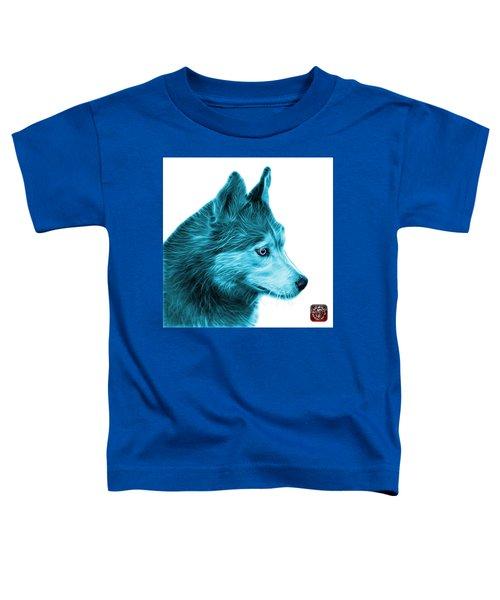 Cyan Siberian Husky Art - 6048 - Wb Toddler T-Shirt