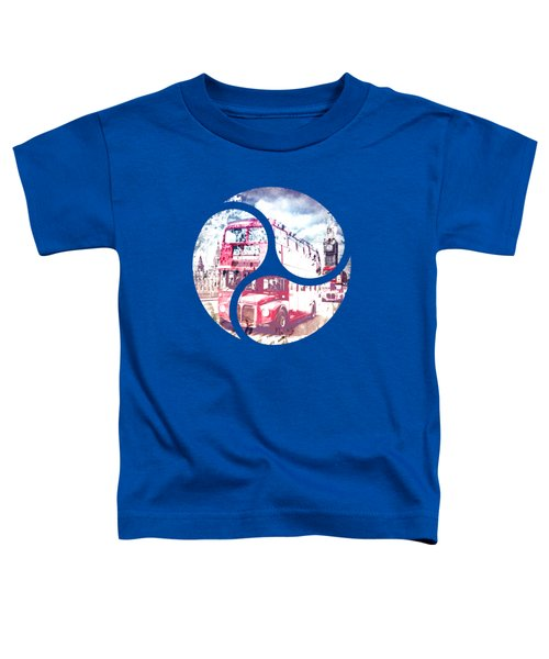 Graphic Art London Westminster Bridge Streetscene Toddler T-Shirt by Melanie Viola