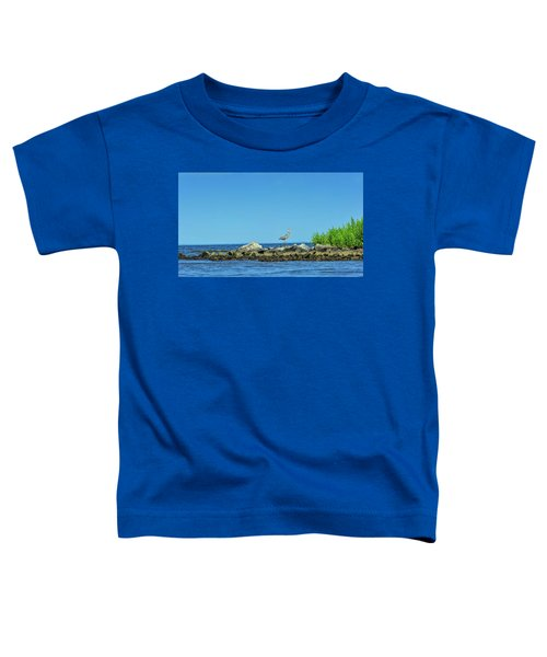 Great Blue Heron On The Chesapeake Bay Toddler T-Shirt